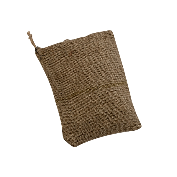 BURLAP BAG WITH A DRAWSTRING 9 X 12