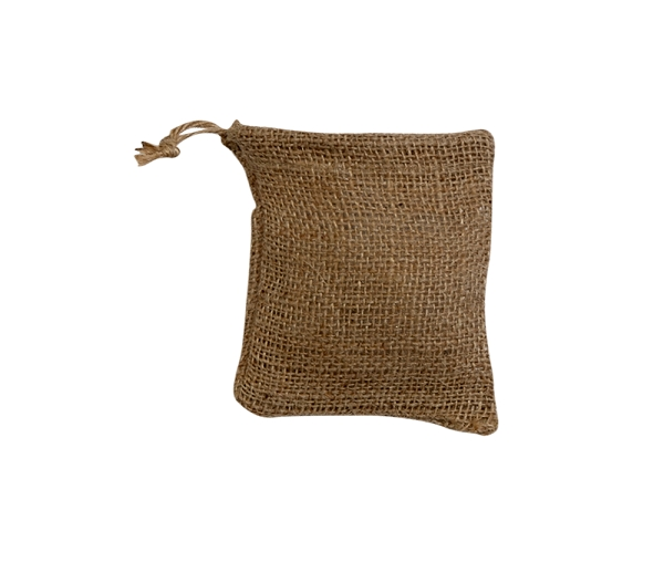 BURLAP BAG WITH A DRAWSTRING 4 X 6